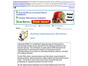 Reading Comprehension: Japan Worksheet