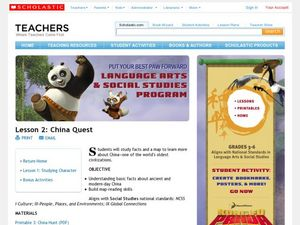 China Quest Lesson Plan