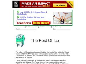 The Post Office Worksheet