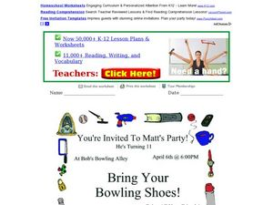 Invitation Exercise Worksheet