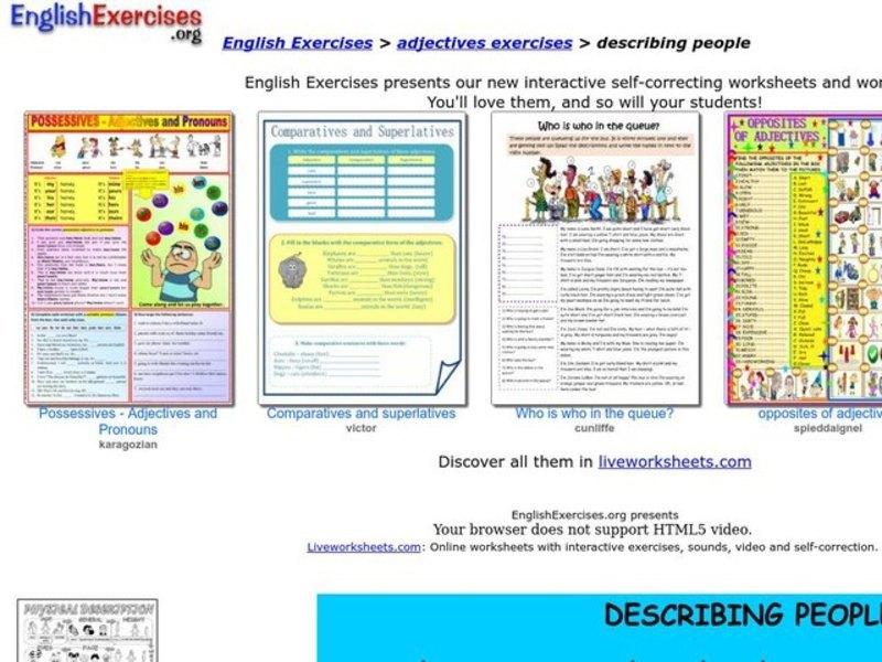 Describing People Interactive