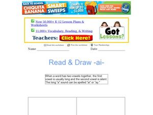 Read & Draw -ai- Worksheet