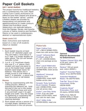 Paper Coil Baskets Lesson Plan