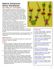 Native American Story Necklaces Lesson Plan
