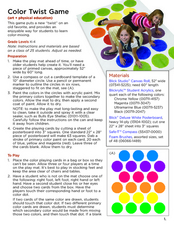 Color Twist Game Lesson Plan