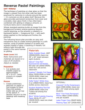 Reverse Pastel Paintings Lesson Plan