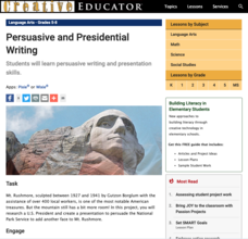 Persuasive Practice: A Mt. Rushmore Addition Lesson Plan