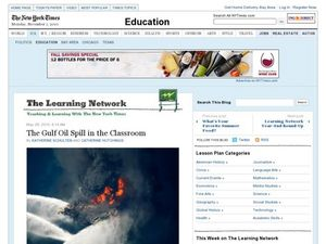 The Gulf Oil Spill in the Classroom Lesson Plan