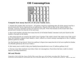 Oil Consumption Lesson Plan
