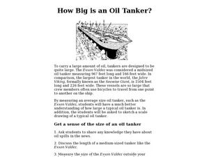 How Big is an Oil Tanker Lesson Plan