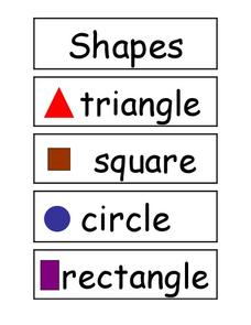 2D Shapes Printables & Template