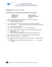 Written Conversation Worksheet