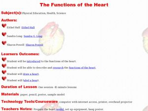 The Functions of the Heart Lesson Plan