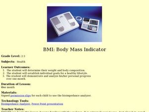 BMI: Body Mass Indicator Lesson Plan