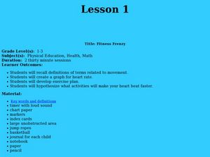 Fitness Frenzy Lesson Plan