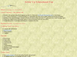 Sewin' Up Educational Fun Lesson Plan