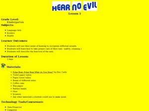 Hear No Evil Lesson Plan