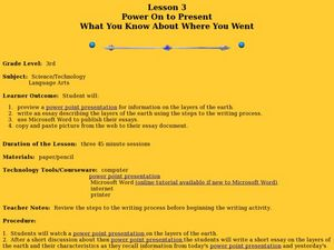 Power On to Present- What You Know About Where You Went Lesson Plan