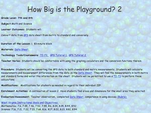 How Big Is The Playground? Lesson Plan