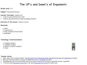 The UP's and Down's of Exponents Lesson Plan
