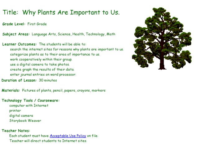 why plants are important to us lesson plan for 1st grade lesson planet. Black Bedroom Furniture Sets. Home Design Ideas