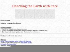 Handling the Earth with Care Lesson Plan