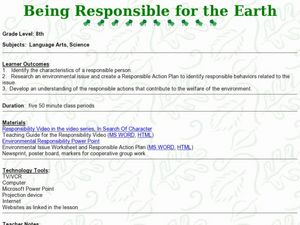 Being Responsible for Earth Lesson Plan