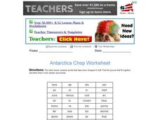 Antarctica Chop Worksheet Worksheet