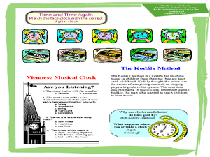 """Viennese Musical Clock"" from Hary Janos by Zoltan Kodaly Worksheet"