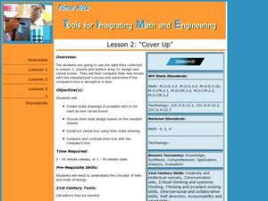 Cover Up: Tools for Integrating Math and Engineering Lesson Plan