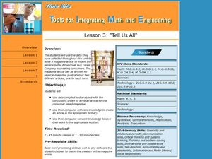 Tell Us All: Tools for Integrating Math and Engineering Lesson Plan