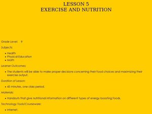 Exercise and Nutrition Lesson Plan