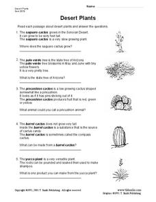 Desert Plants Lesson Plan