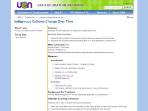 Indigenous Cultures Change Over Time Lesson Plan