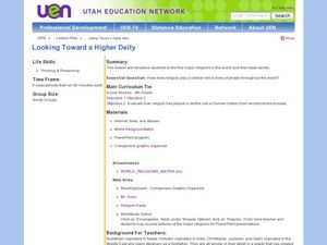Looking Toward a Higher Deity Lesson Plan