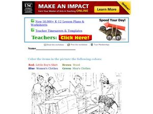 Directed Coloring Worksheet