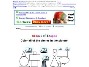 Circus of Shapes-Circles Worksheet
