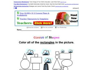 Circus of Shapes: Rectangles Worksheet