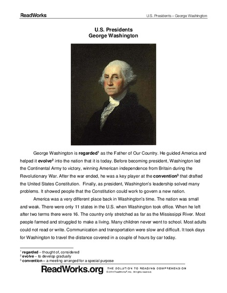 George Washington Lesson Plans Worksheets Reviewed By Teachers