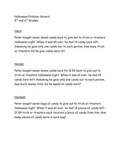 Halloween Problem Solver Worksheet