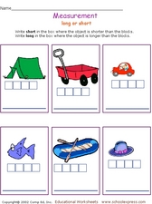 Measurement: Long or Short? Worksheet