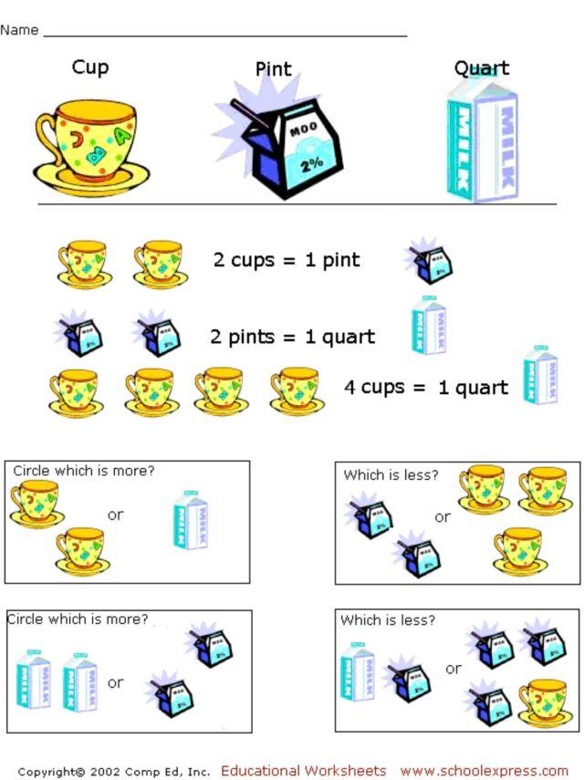 comparing liquid measurements worksheet for 3rd 4th grade lesson planet. Black Bedroom Furniture Sets. Home Design Ideas