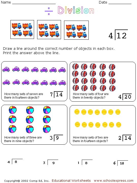 division concepts worksheet for 2nd 3rd grade lesson planet. Black Bedroom Furniture Sets. Home Design Ideas