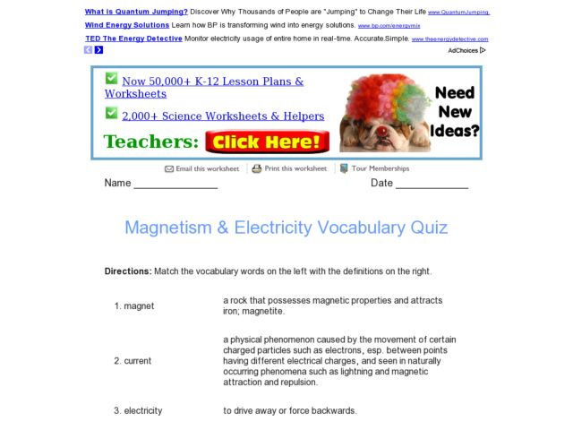 Electricity And Magnetism Proprofs Quiz