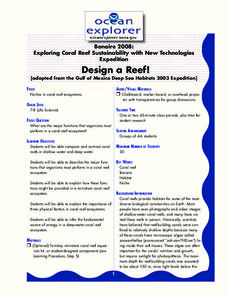 Design a Reef! Lesson Plan