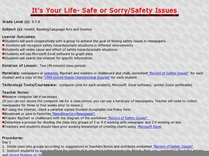 It's Your Life - Safe or Sorry/Safety Issues Lesson Plan