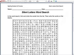 words with silent first letters silent letters word search worksheet for 5th 6th grade 50189