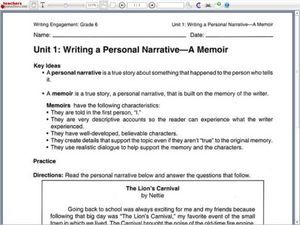 writing a personal essay lesson plan Free printable narrative essay assignments to use in your essay writing rubrics narrative essay i am going to use it for review & next years lesson plans.