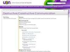 Destructive/Constructive Communication Lesson Plan