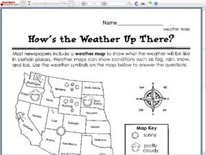 how 39 s the weather up there worksheet for 2nd 3rd grade lesson planet. Black Bedroom Furniture Sets. Home Design Ideas